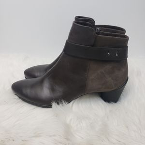 ECCO | Brown leather/Suade Booties